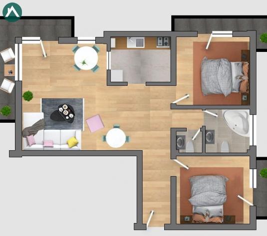 Proprietar, vand apartament cu 3 camere in bloc nou Cluj-Napoca - imagine 1