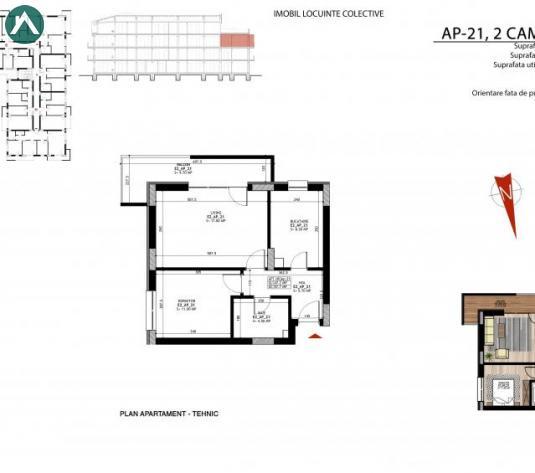 Apartament 2 camere spatios Theodor Pallady, bloc 2018 - imagine 1