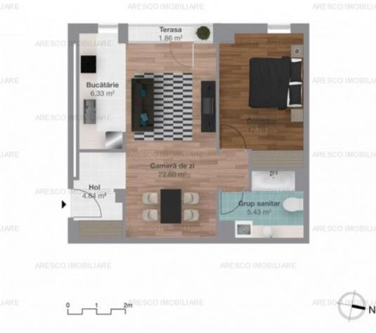 Apartament cu 2 camere zona Iulius Mall, Cluj  AR2828 - imagine 1
