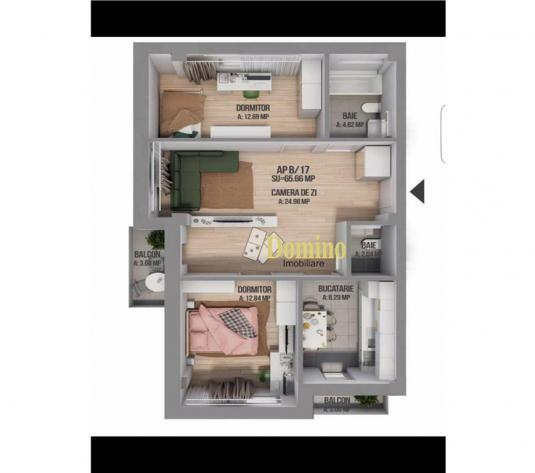 3 Camere, Bloc Nou cu CF, Parcare, Etaj Intermediar, Zona Carrefour - imagine 1