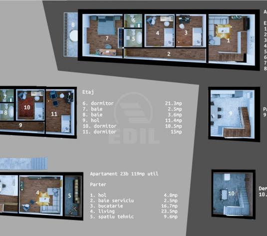 Apartamente de vanzare 4 camere Cluj-Napoca, Dambu Rotund - imagine 1