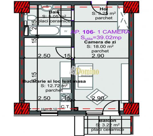 Apartament 1 camera,Et itermediar, Bloc Nou, Marasti - imagine 1