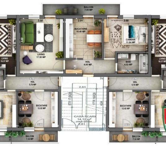 Apartament 2 camere de vanzare in Sibiu, et.1, decomandat - imagine 1