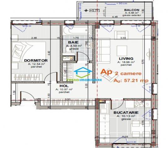Apartament cu 2 camere decomandate in vila  alee privata de vanzare - imagine 1