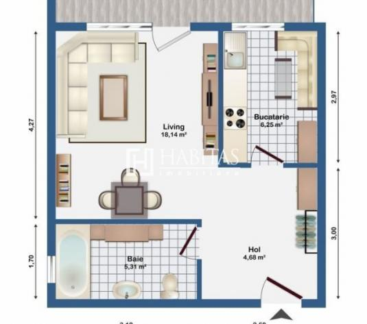 1, 2 camere, imobil nou, in Europa, de la 61000 euro,  garaj inclus - imagine 1