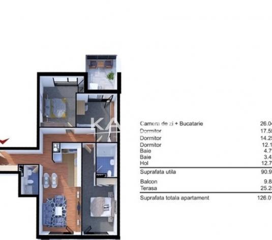 Apartament 4 camere ctie noua 126 mp  in Marasti - imagine 1
