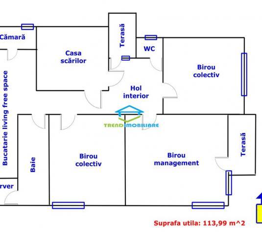 Spatiu birou, 3 camere, Central, dotat pentu birou sau alte activitati de inchiriat - imagine 1