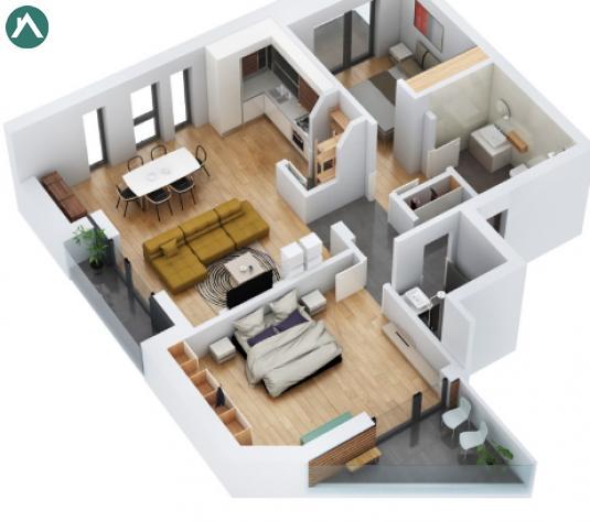 Apartamente 3 camere in Ansamblu rezidential zona Vivo, direct de la constructor - imagine 1