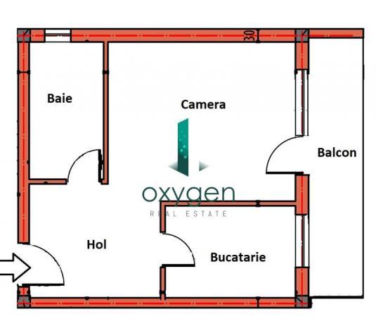 1 camera decomandata cu incalzire in pardoseala, PARCARE, TVA inclus! - imagine 1