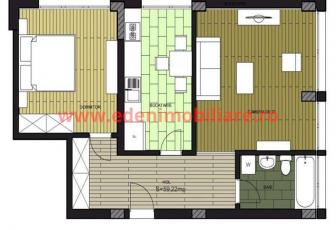 Apartament 2 camere de vanzare in Cluj, zona Borhanci, 63000 eur