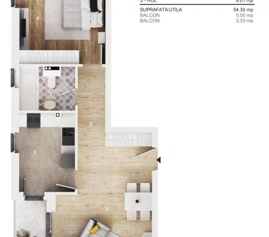 Apartament 2 camere Cluj Napoca, Borhanci - imagine 1