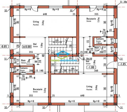 Duplex semifinisat Europa  110 mp utili  zona Eugen Ionesco de vanzare - imagine 1