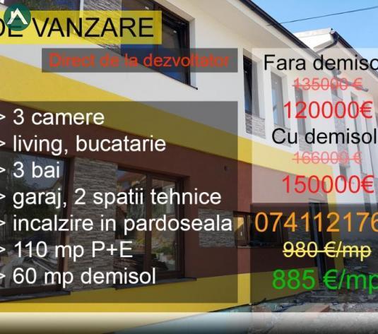 Casa tip duplex in Dambul Rotund, 169 mp, garaj, langa Lidl! - imagine 1