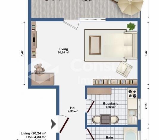 Apartament cu 1 camere de vanzare in zona Europa - imagine 1