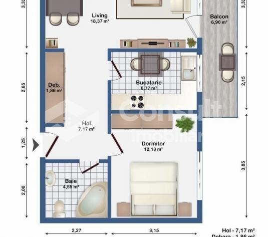 Apartament cu 2 camere de vanzare in zona Europa - imagine 1