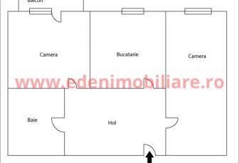 Apartament 2 camere de vanzare in Cluj, zona Manastur, 65000 eur