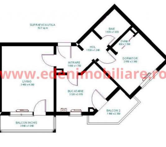 Apartament 2 camere de vanzare in Cluj, zona Grigorescu, 67000 eur
