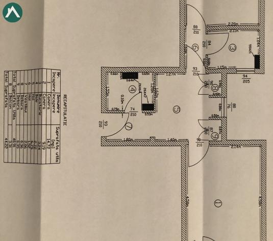 De vanzare 2 camere, Pantelimon - Cora, comision 0 - imagine 1