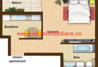 Apartament 1 camera de vanzare in Cluj, zona Zorilor, 55000 eur