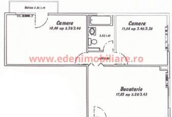 Apartament 2 camere de vanzare in Cluj, zona Marasti, 64000 eur