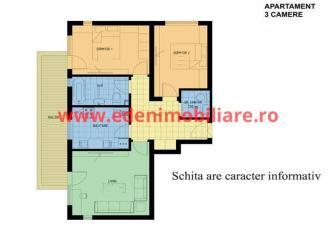 Apartament 3 camere de vanzare in Cluj, zona Manastur, 65000 eur