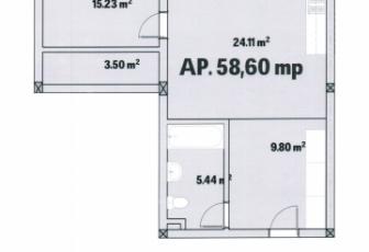 2 Camere  de vanzare in constructie noua, parcare, 58 mp, semidecomandat, etaj 1/3 in Floresti, Floresti