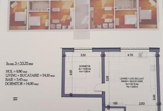 Apartament 2 camere  de Vanzare, Floresti