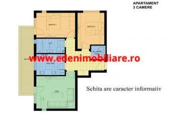 Apartament 3 camere de vanzare in Cluj, zona Centru, 125000 eur