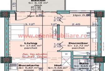 Apartament 2 camere de vanzare in Cluj, zona Centru, 63612 eur