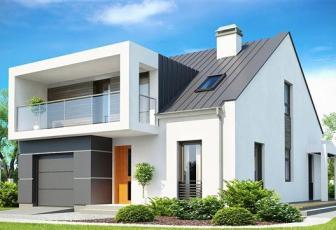Casa cu arhitectura deosebita cu 500 mp teren