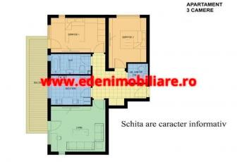 Apartament 3 camere de vanzare in Cluj, zona Centru, 91000 eur