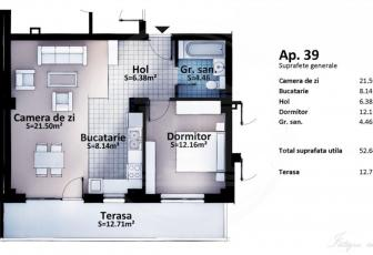 Vanzare apartament  2 camere, semifinisat in constructie 2016, zona Europa